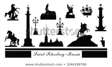 sculpture of lion on ship in St. Petersburg Stock photo © Mikko