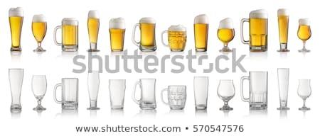 empty beer glass set stock photo © karandaev