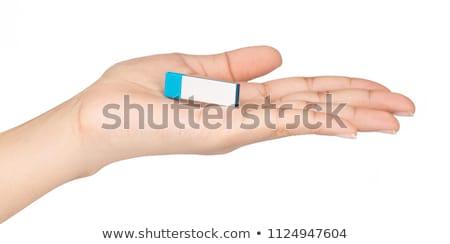 usb flash and key shows secure portable memory stock photo © stuartmiles