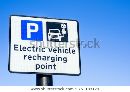 Traffic sign electric vehicles Stock photo © Ustofre9