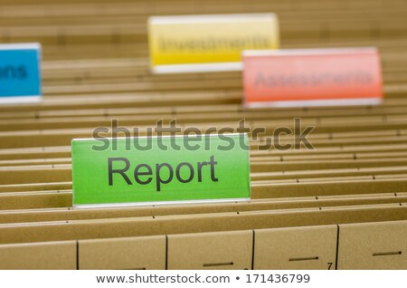 Hanging file folder labeled with Report Stock photo © Zerbor