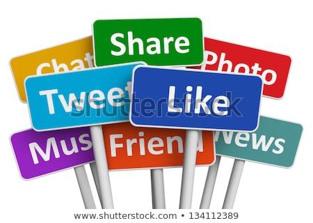 Gemeenschap social media vector abstract technologie netwerk Stockfoto © burakowski
