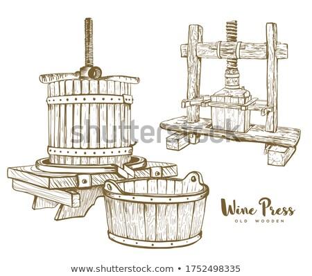вино · старые · погреб · прессы · древесины · напитки - Сток-фото © epstock