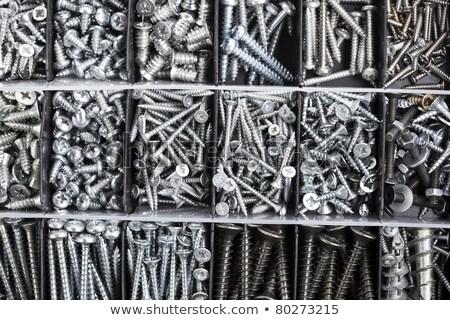 Hardver doboz körmök közelkép lövés Stock fotó © devon