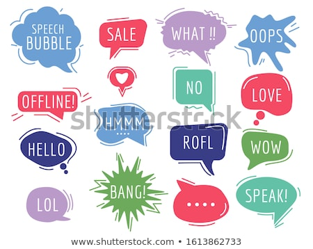 colorful funny speech bubbles stock photo © burakowski