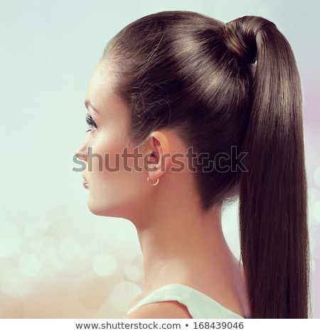 Stock photo: Beautiful hair, Fashion Woman Portrait. Beauty Model Girl with l
