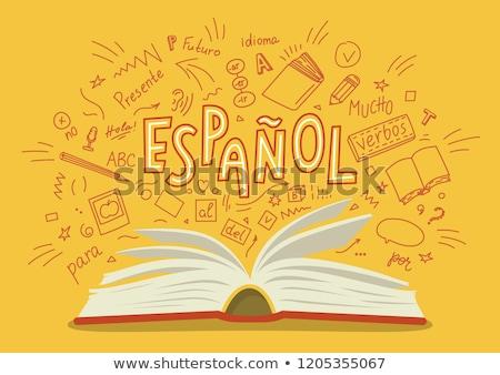 Espanhol branco férias botão cultura Foto stock © chrisdorney