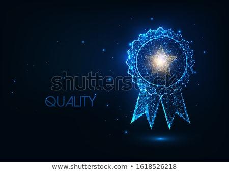 Ganador oscuro digital texto azul color Foto stock © tashatuvango
