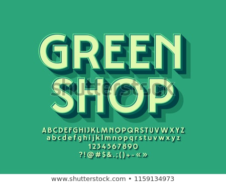 Stok fotoğraf: Yeşil · alfabe · dizayn · okul · yaz