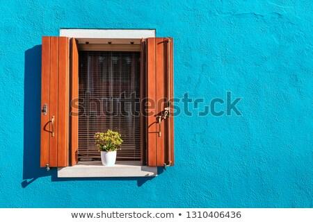 turkuaz · kapı · bağbozumu · Metal · işlemek · anahtar · deliği - stok fotoğraf © jonnysek