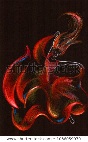Belo flamenco dançarina fogo chamas mulher Foto stock © Nejron