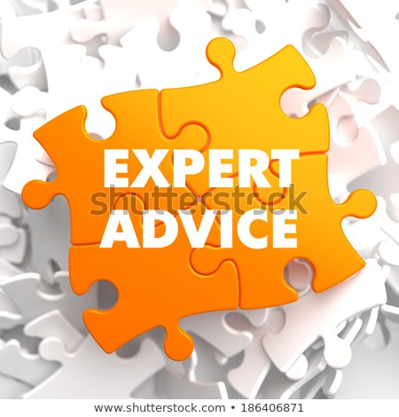 Expert conseil orange puzzle blanche affaires Photo stock © tashatuvango