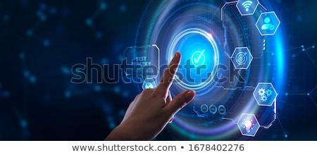 legjobb · gyakorlat · illusztráció · táblagép · kék · üzlet - stock fotó © tashatuvango