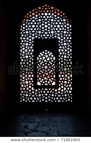 inside humayuns tomb with marble tomb  Stock photo © meinzahn