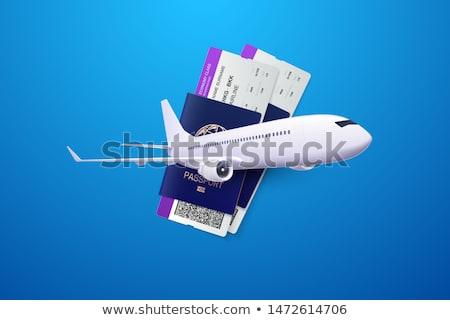Foto stock: 3D · aeronave · avião · avião · branco · transporte