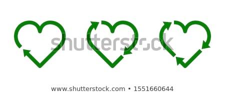 green eco symbols set stock photo © adamson