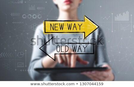 eski · hayat · yeni · imzalamak · örnek · dizayn - stok fotoğraf © ivelin
