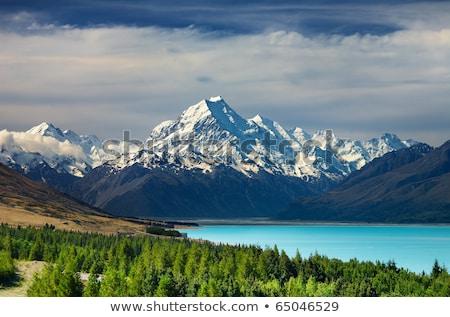 alpes · Nova · Zelândia · nuvens · neve · verão - foto stock © backyardproductions
