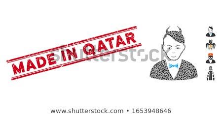 Katar kırmızı yalıtılmış beyaz Stok fotoğraf © tashatuvango
