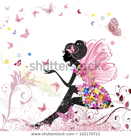 Fairy - Girl with butterfly wings Stock photo © pugovica88