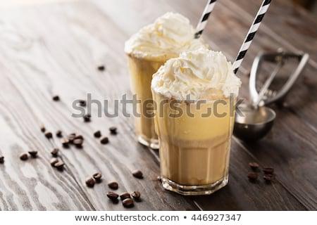 冷たい · ガラス · ミルク · コーヒー · アイスキューブ - ストックフォト © tab62