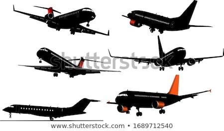 Vliegtuig af hemel licht luchthaven Stockfoto © leonido