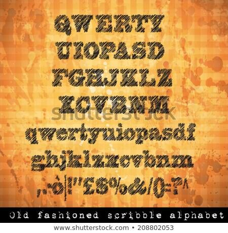 alfabeto · pluma · boceto · efecto · números · todo - foto stock © davidarts