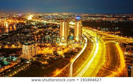 Wrażenie panorama miasta Wietnam duży nowego Zdjęcia stock © xuanhuongho