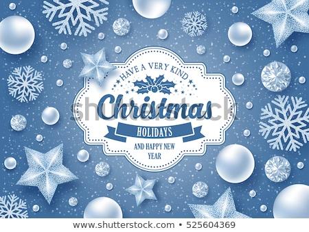 xmas horizontal greeting card  Stock photo © tintin75