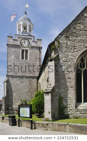 St. Thomas and All Saints Church in Lymington Stock photo © sarahdoow