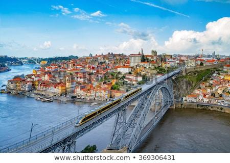 Metro on Dom Luis I Bridge in Porto Stock photo © rognar