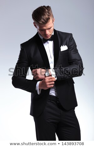 Latin man wearing a tuxedo Stock photo © iko
