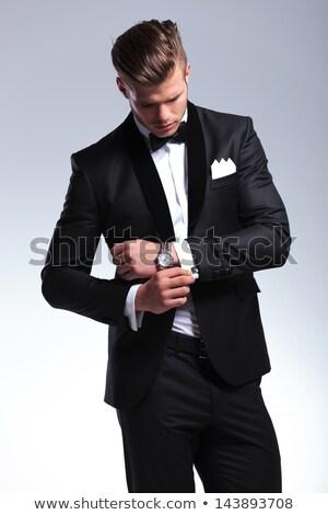 man · smoking · portret · mooie · sexy - stockfoto © iko