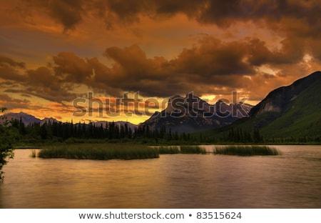 pôr · do · sol · acima · parque · Canadá · céu · água - foto stock © skylight