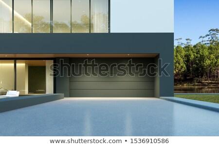 Buitenkant moderne stijl villa moderne huis natuur Stockfoto © alexandre_zveiger