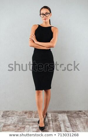 Ritratto giovani felice donna braccia piegato Foto d'archivio © deandrobot
