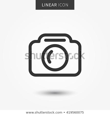 Vektör kamera simgeler simge hareketli Stok fotoğraf © thanawong