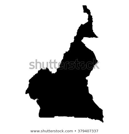 карта Камерун различный белый Мир Сток-фото © mayboro1964