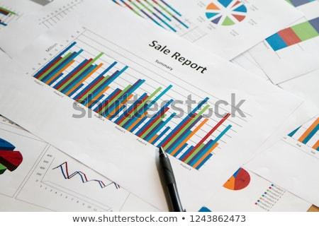 продажи докладе ipad бумаги финансовых Сток-фото © tangducminh