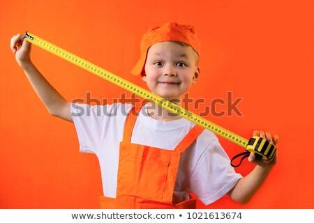 Jongen meetlint kaukasisch mannelijke jonge kind Stockfoto © phakimata