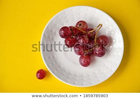 カラフル プレート 孤立した 白 食品 背景 ストックフォト © karandaev