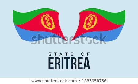 Eritrea · zászló · gomb · textúra · művészet · kék - stock fotó © mayboro1964