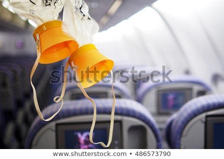 Oxigénmaszk fehér orvosi maszk műanyag izolált Stock fotó © hd_premium_shots