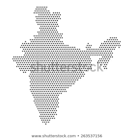 Map of India with Dot Pattern Stock photo © Istanbul2009