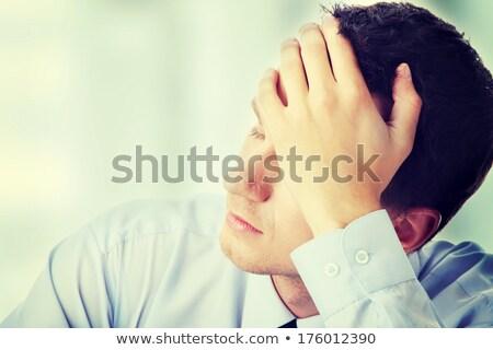 Zakenman depressie handen voorhoofd beter Stockfoto © lightpoet