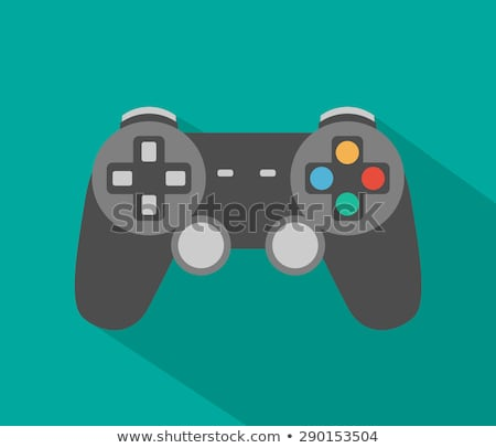 Game controller flat app icon with long shadow Stock photo © Anna_leni