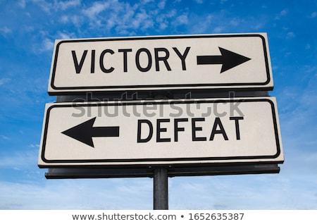 Decisión éxito derrotar carretera plan Foto stock © Zerbor