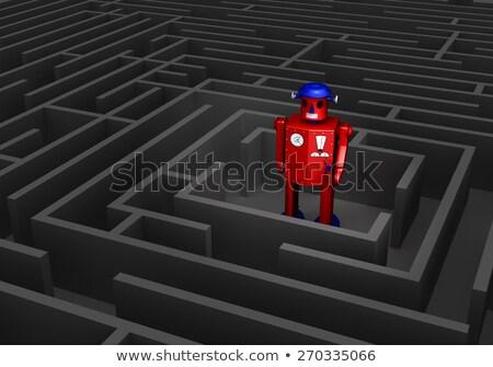 Old Tin Robot In Maze Stock photo © 3mc
