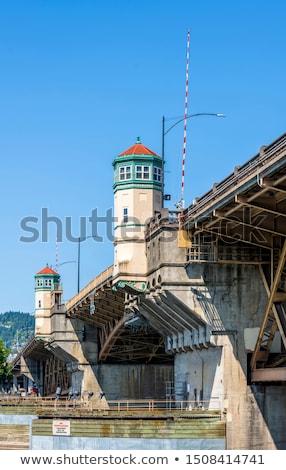 Burnside drawbridge in Portland, Oregon Stock photo © AndreyKr