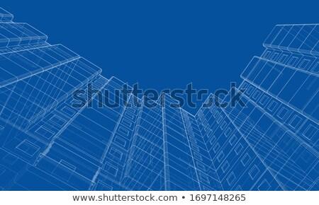új épület terv érdekes egyedi stílus Stock fotó © ylivdesign